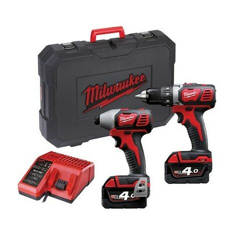 Milwaukee 4933443479 M18 BPP2C-402 Twin Pack 18 Volt 2 x 4.0Ah Li Ion