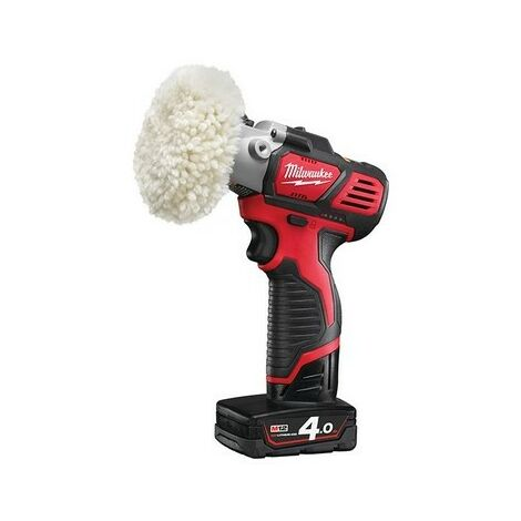 Milwaukee 4933447802 M12 BPS-421X Cordless Sander/Polisher 12 Volt 1 x 4.0Ah/1 x 2.0Ah Li-Ion