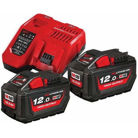 Milwaukee 4933464261 M18 HNRG Battery Twin Pack 18V 12.0Ah