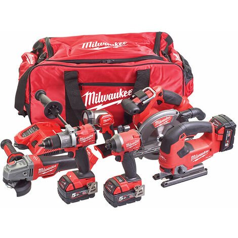 Milwaukee 4933464918 FUEL Powerpack 6 Piece Kit 18V 3 x 5.0Ah Li-ion