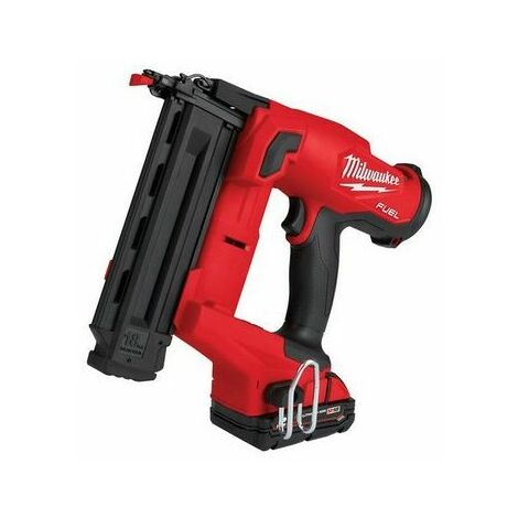Milwaukee 4933471408 M18 FN18GS-202X FUEL™ Finish Nailer 18V 2 x 2.0Ah Li-ion