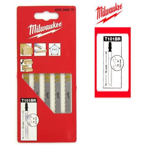 MILWAUKEE 5 lames de scie sauteuse bois denture de 2,5 mm - Longueur 75 mm
