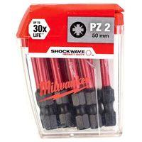 MILWAUKEE 50MM PZ2 IMPACT BITS 10PC 4932430866