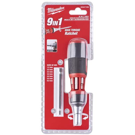MILWAUKEE 9 in 1 hexagonal ratchet screwdriver 4932471599