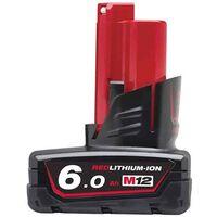 MILWAUKEE Batterie 12V 6.0Ah M12B6 - 4932451395