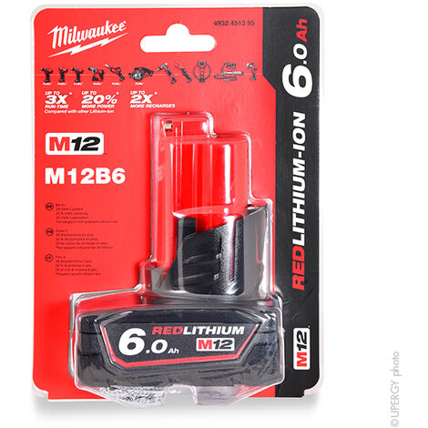 Milwaukee - Batterie visseuse, perceuse, perforateur, ... MILWAUKEE M12 B6 12V 6Ah - M12 B6