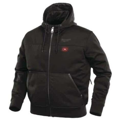 Milwaukee black heated jacket size S M12 HJ 3IN1-0 4933451621 - M12 2.0Ah battery and C12C charger 4933451900