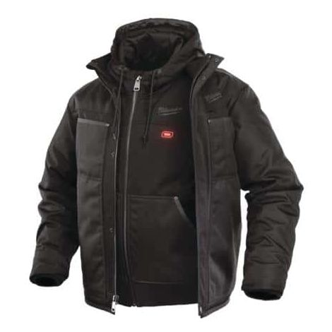 Milwaukee black heated jacket size S M12 HJ 3IN1-0 without battery or charger 4933451621