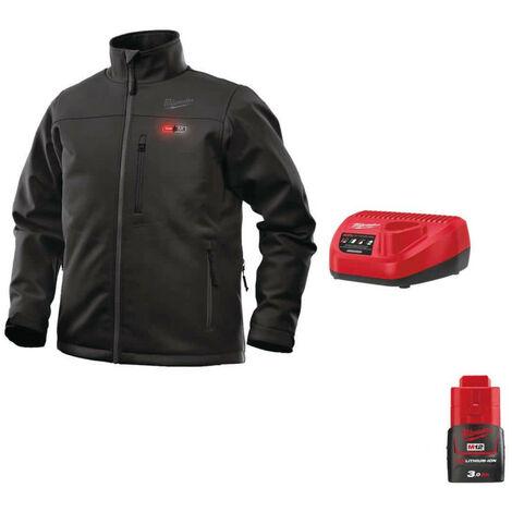 Milwaukee Black Heating Jacket M12 HJBL4-0 Size L 4933464324 - Battery Charger 12V M12 C12 C - Battery M12 12V 3.0Ah