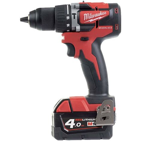 MILWAUKEE Brushless M18 CBLPD-402C Drill and Screwdriver - 2 batteries 4.0Ah- 1 charger - 4933464537