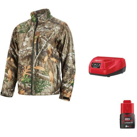 Milwaukee Camo M12 Heating Jacket HJCAMO5-0 Size XXL 4933464338 - 12V M12 Battery Charger C12 C - 12V 3.0Ah M12 Battery