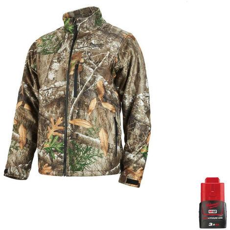 Milwaukee Camo M12 Heating Jacket HJCAMO5-0 Size XXL 4933464338 - Battery M12 12V 3.0Ah