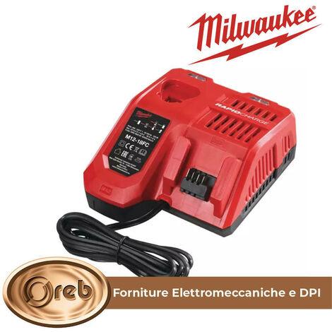 Milwaukee caricabatterie rapido m12-18fc per trapano a batteria smerigliatrice