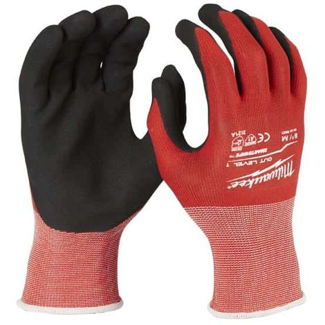 MILWAUKEE cut resistant gloves Size M level 1 - 4932471416