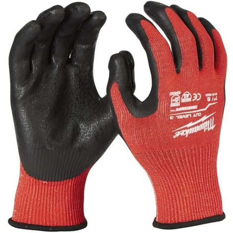 MILWAUKEE cut resistant gloves Size M level 3 - 4932471420