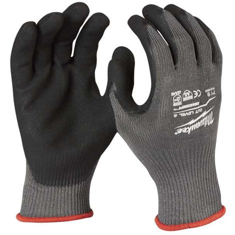 MILWAUKEE cut resistant gloves Size M level 5 - 4932471424
