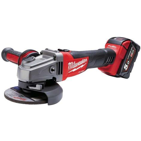 MILWAUKEE FUEL M18 angle grinder CAG125X-502X - 2 battery 18V 5.0Ah - 1 charger M12-18FC 4933448866