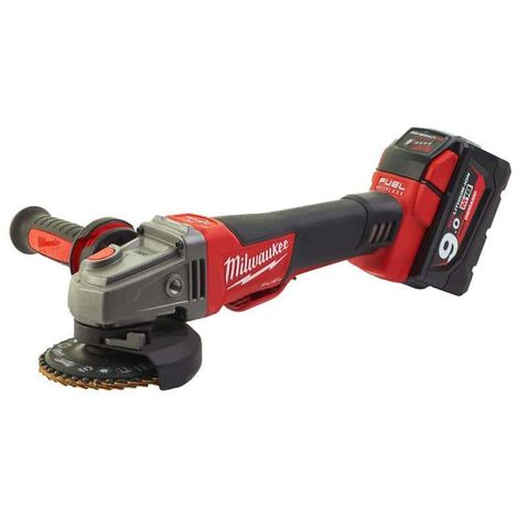 MILWAUKEE FUEL M18 angle grinder CAG125XPDB-902X - 2 battery 18V 9.0Ah - 1 charger M12-18FC 4933451471