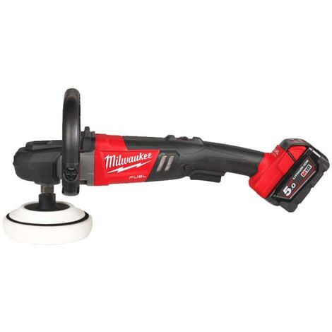 MILWAUKEE FUEL M18 polisher FAP180-502X - 2 battery 18V 5.0Ah - 1 charger M12-18FC 4933451550