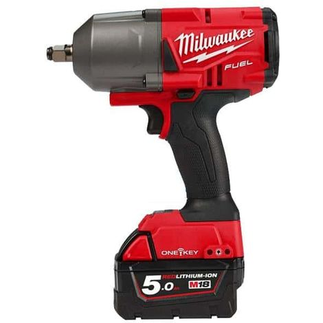 MILWAUKEE FUEL One Key M18 Impact Wrench ONEFHIWF12-502X - 2 batteries 18V 5.0Ah - 1 charger M12-18FC 4933459727