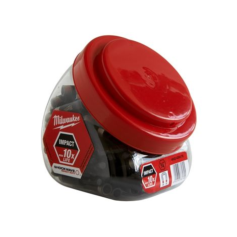 Milwaukee Impact Rated Mag Bit Holder Jar 100 Pieces