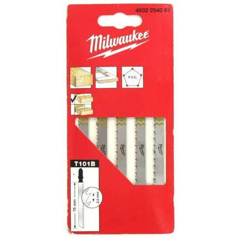Milwaukee Jigsaw Blades - Wood Clean and Splinter Free (Pack of 5)