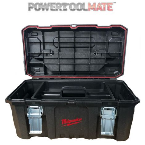 Milwaukee Jobsite Tool Box 660 x 350 x 310mm Toolbox Workbox