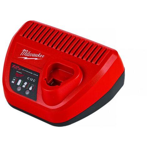 12,0V Milwaukee Schnellladeger/ät C12C 4932352000 f/ür 12V Li-Ion Akkus