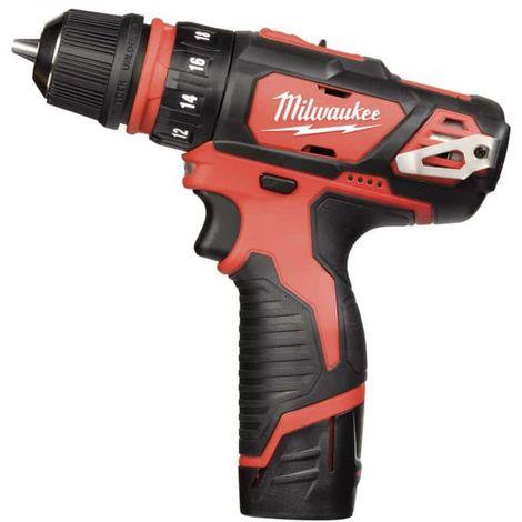 MILWAUKEE M12 BDDX-202X screwdriver drill - 2 batteries 12V Li-Ion 2.0Ah - 1 charger 4933447136