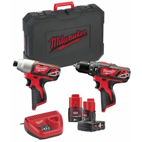 Milwaukee M12 BPP2B-421C M12 P12 V Paquete doble en maletín - M12BPD M12BID