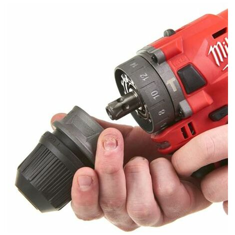 Milwaukee M12 FPDX-0 - Perceuse visseuse à percussion Li-Ion 12V (machine seule) - moteur brushless - 44Nm