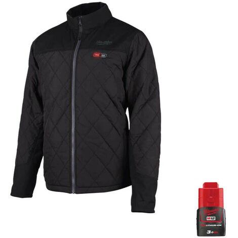 Milwaukee M12 HJP-0 warming jacket Size XXL 4933464368 - Battery M12 12V 3.0Ah
