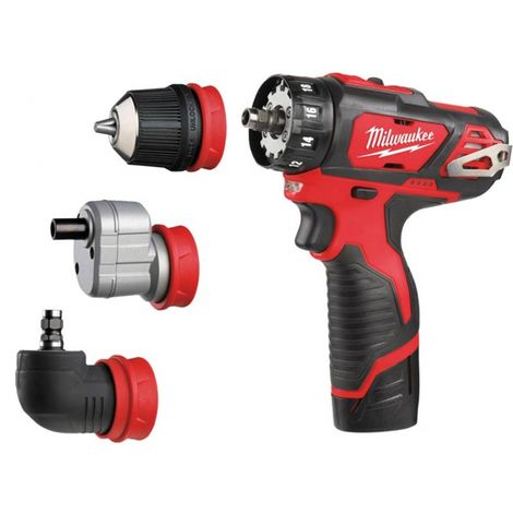 Milwaukee M12BDDXKIT-202C 12v 2x2.0Ah Lio-ion Removable Chuck Drill Driver