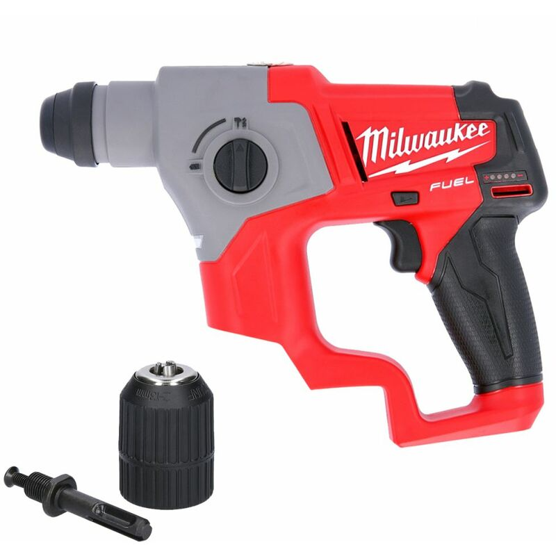 Milwaukee M12CH-0 12V Fuel SDS Plus Rotary Hammer Drill With Extra Chuck