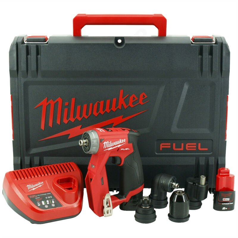 Milwaukee M12FDDXKIT-202X 12V 4-in-1 FUEL Drill Driver Kit with Interchangeable Heads:12V