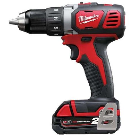 MILWAUKEE M18 BDD-202C screwdriver drill - 2 batteries 18V 2.0Ah - 1 charger M12-18C 4933443555