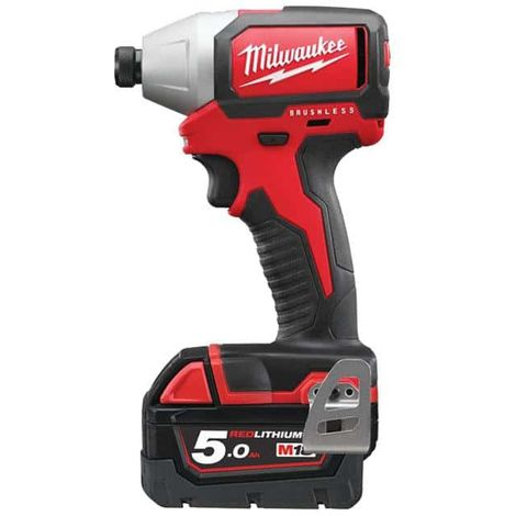 MILWAUKEE M18 Brushless compact impact driver BLID-502C - 2 batteries 18V 5.0Ah - 1 charger M12-18FC 4933448457