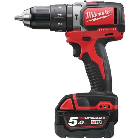 Milwaukee M18 Brushless hammer drill BLPD-502C 18V - 2 batteries 5.0Ah - 1 charger 4933448472