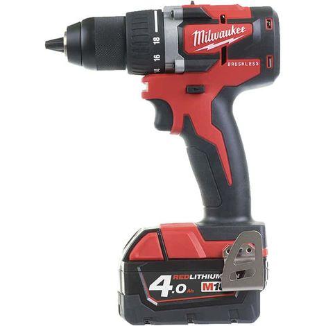 MILWAUKEE M18 CBLDD-402C compact screwdriver - 2 batteries 4.0Ah - 1 charger - 4933464539