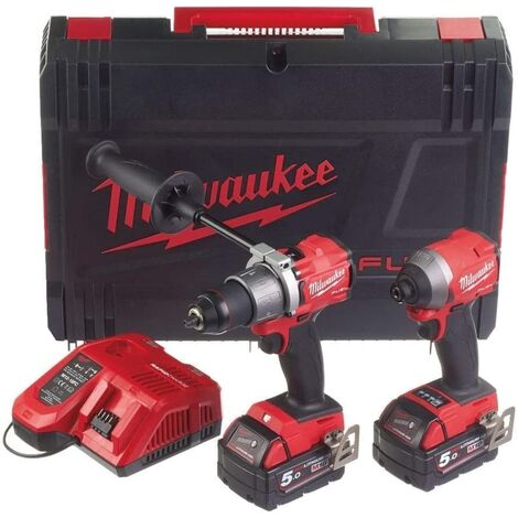 Milwaukee M18 FPP2A2 FUEL™ Gen 3 Twin Pack 18V 2 x 5.0Ah Li-ion