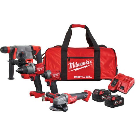 Milwaukee M18 FPP4G2-502B FUEL™ Powerpack 18V 2 x 5.0Ah Li-ion
