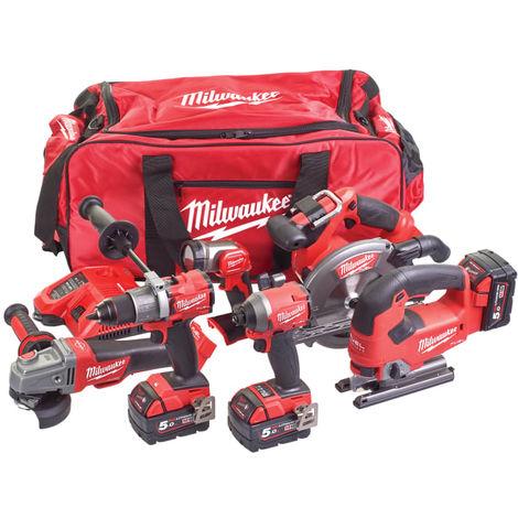 Milwaukee M18 FPP6D2-503B FUEL™ Powerpack 6 Piece Kit 18V 3 x 5.0Ah Li-ion