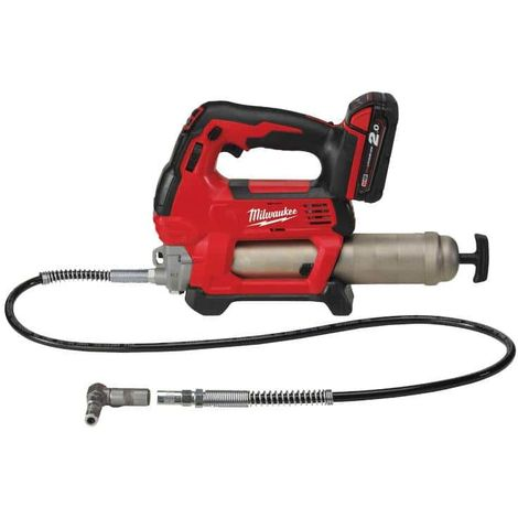 MILWAUKEE M18 GG-201C grease gun - 1 battery 18V 2.0 Ah - 1 charger M12-18C 4933440490