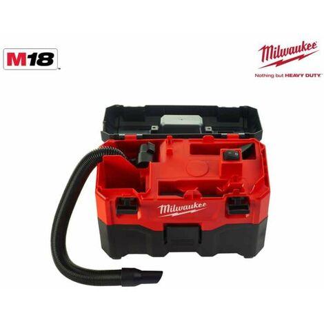 Milwaukee M18 VC2-0 Aspirador húmedo / seco a batería 18V - Sin batería, sin cargador incluidos