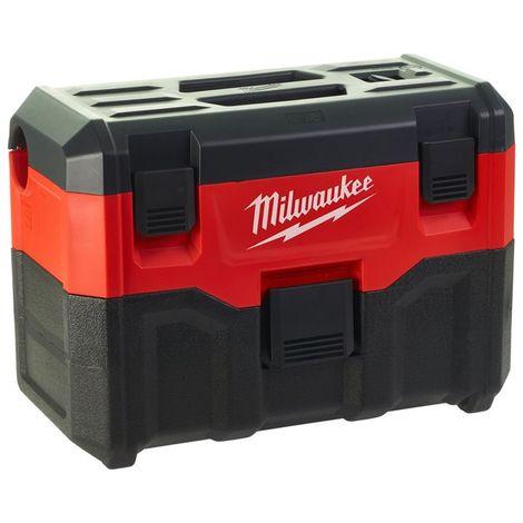 Milwaukee M18 VC2-0 Aspiradora para mojado y seco con batería de iones de litio de 18 V y cuerpo de la aspiradora: 7,5 litros