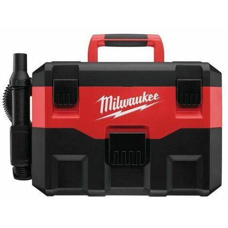 Milwaukee M18 VC2-0 Aspirateur eau et poussière à batteries 18V Li-Ion (machine seule) - 7,5 liter