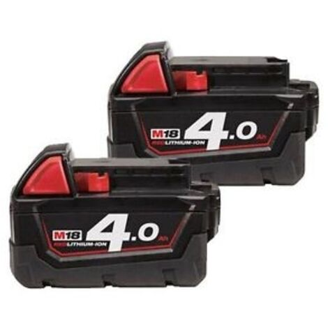Milwaukee M18B4 18V 4.0Ah Lithium-Ion Battery Twin Pack (Body Only)