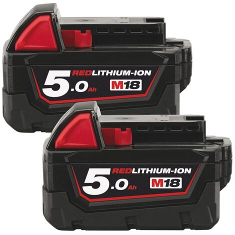 Milwaukee M18B5 18V 5.0Ah Lithium-Ion Battery Twin Pack (Body Only)