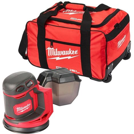 Milwaukee M18BOS125 M18 18V 125mm Random Orbit Sander With 19 inch Wheel Bag