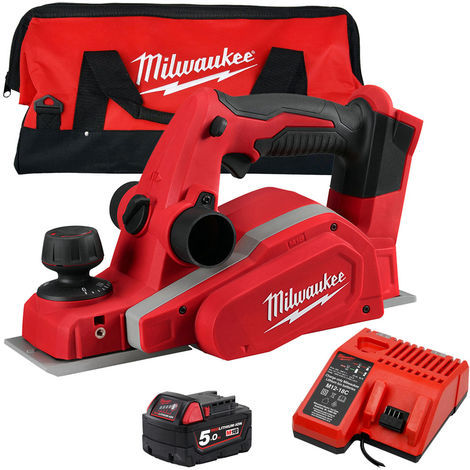 """main image of """"Milwaukee M18BP-0 18V 82mm Planer with 1 x 5.0Ah Battery & Charger in Tool Bag:18V"""""""